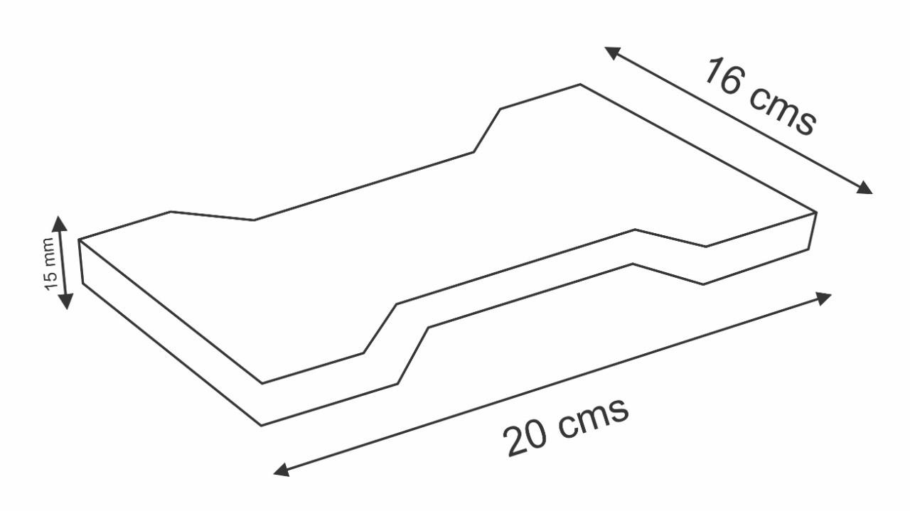 Piso de Borracha Tipo Ossinho 20x16cm 15mm
